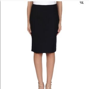 Prada • black long pencil skirt